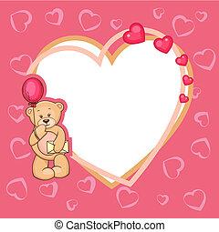 cute valentine teddy bear
