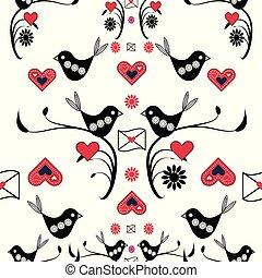 Cute valentines seamless pattern background.