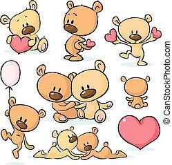 cute valentines teddy bear - vector