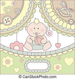 cute vector baby boy card