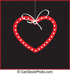 Cute vector background with  heart