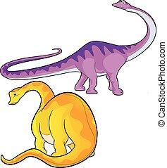 apatosaurus - cute vector cartoon apatosaurus actions