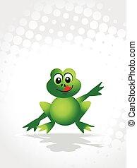 cute vector frog
