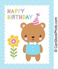 Cute vector illustration with a bear.
