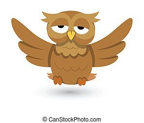 cute vector owl illustration
