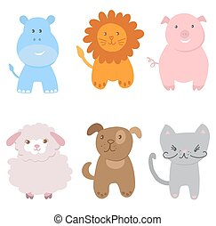 Cute Vector Set of Animals
