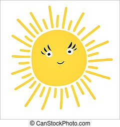 Cute vector set of Sun icons.