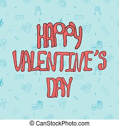 Cute Vector Valentine day card or banner