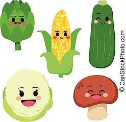 Cute Vegetables Set