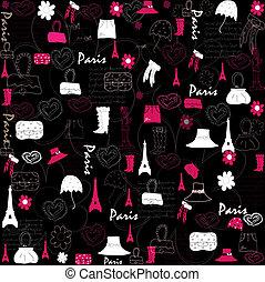 cute, vetorial, pattern., ilustração