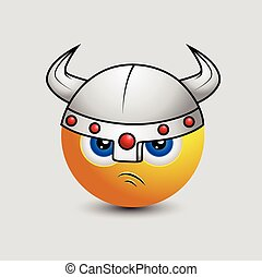 Cute Viking Emoticon