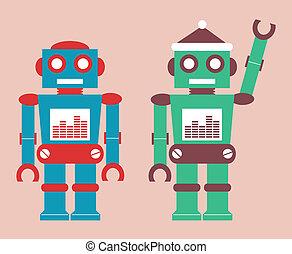 cute vintage robot