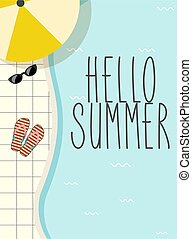 cute vintage summer poster