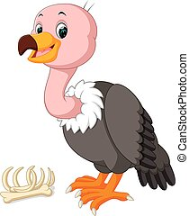 cute Vulture cartoon - illustration of cute Vulture cartoon