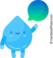 Cute water drop character