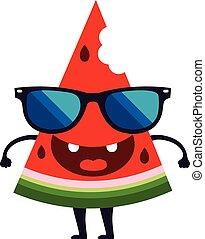 Cute watermelon character vector design Cartoon