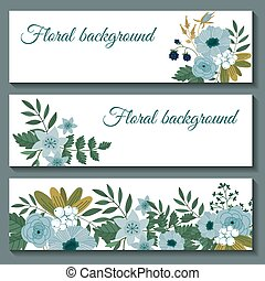 Cute web banners design template