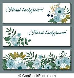 Cute web banners design template