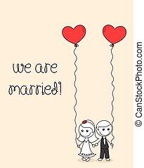 wedding couple doodle