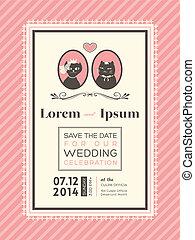 Cute Wedding invitation frame template