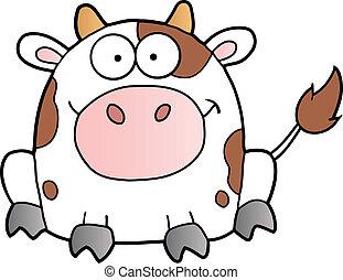 Cute White Cow