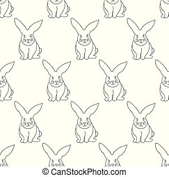 White Rabbit Seamless Background