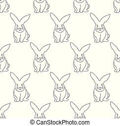 White Rabbit Seamless Background