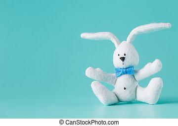 Cute white rabbit toy