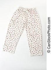 Cute white sleepwear pants
