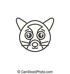 cute wild animal line style icon