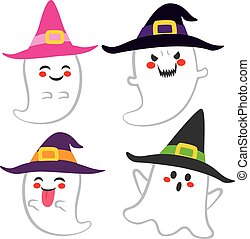 Cute Witch Ghosts