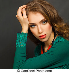 Cute Woman, fashion portrait