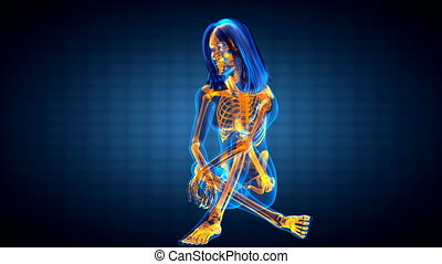 cute woman radiography