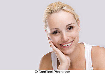Cute woman with beautiful smile