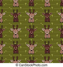 Cute woodland two stag deer vector illustration. Buck deer ...