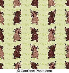 Cute woodland two stag vector illustration. Buck deer with ...
