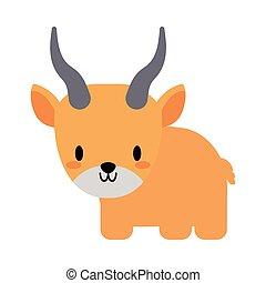 cute yak kawaii, flat style icon