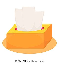 Cute yellow and orange tissue box. vector