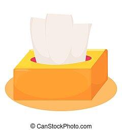 Cute yellow and orange tissue box. vector