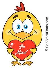 Cute Yellow Chick Character - Cute Yellow Chick Cartoon...