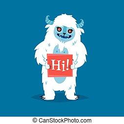 Cute yeti biigfoot monster vector set. - Cute yeti bigfoot ...