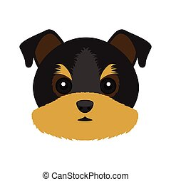 Cute Yorkshire terrier dog avatar