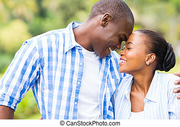 african couple in love