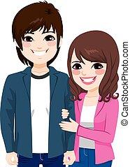 Asian Japanese Couple