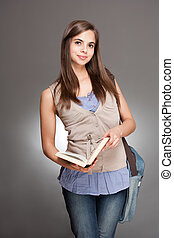 Cute young student.