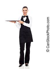 cute young waitress