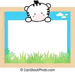 cute zebra frame