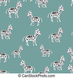 Cute Zebra Vector Pattern Seamless