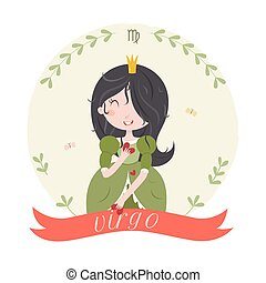 Cute zodiac sign - Virgo.