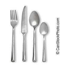 cutelaria, faca, jogo, garfo, colher